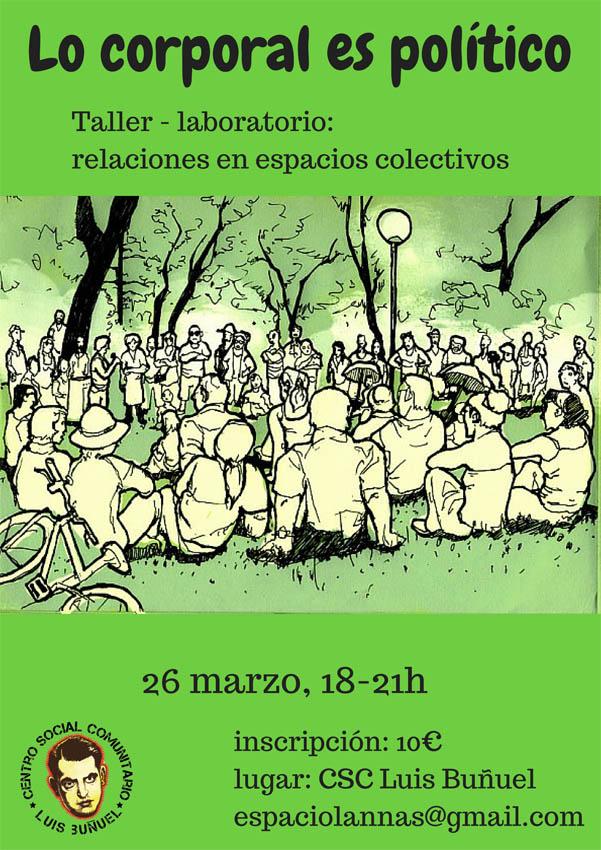 """""""Lo corporal es político"""", un taller-laboratorio en el CSC Luis Buñuel"""