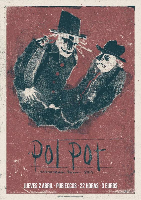 Pol Pot cierra su gira europea en Zaragoza