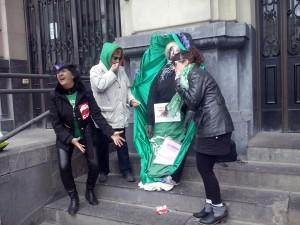 El acto del Frente Anti Lomce se realizó este sábado en Zaragoza. Foto: CGT