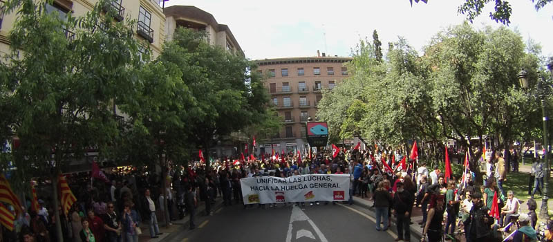 CATA, CGT, CUT, IA, ISTA, OSTA, SASA y SOA llaman en Zaragoza a luchar por un empleo digno y acabar con las mordazas