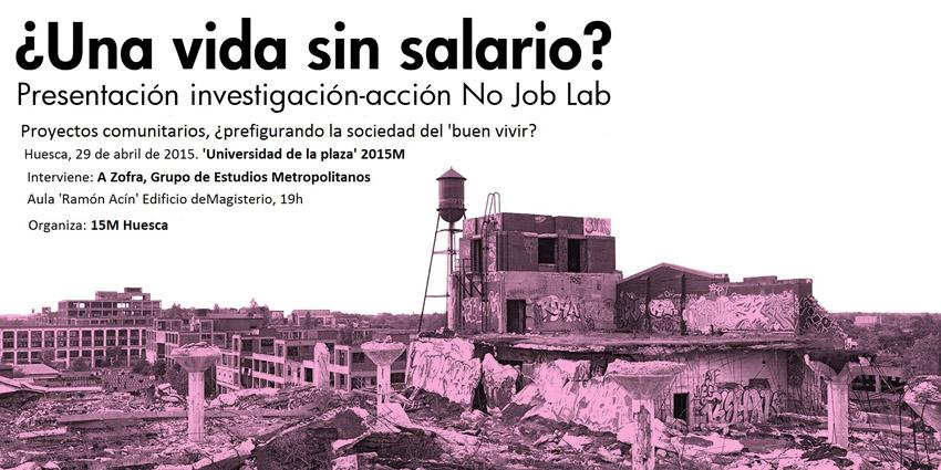 La 'Universidad de la plaza' de Uesca debate sobre la vida sin un salario garantizado y el papel de los nuevos proyectos comunitarios