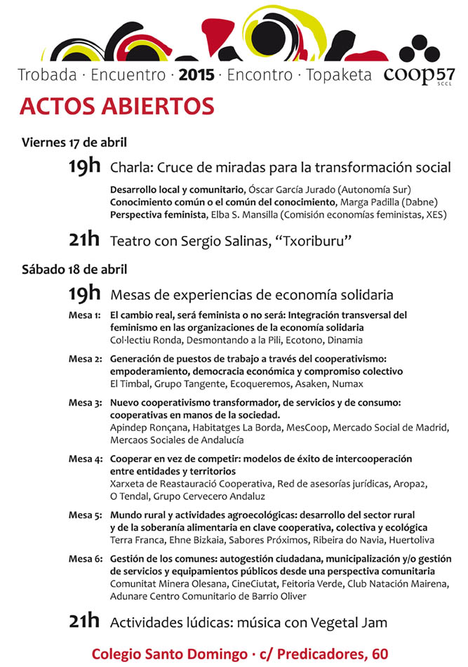 Actividades publico en general-Encuentro Coop57_Zaragoza2015