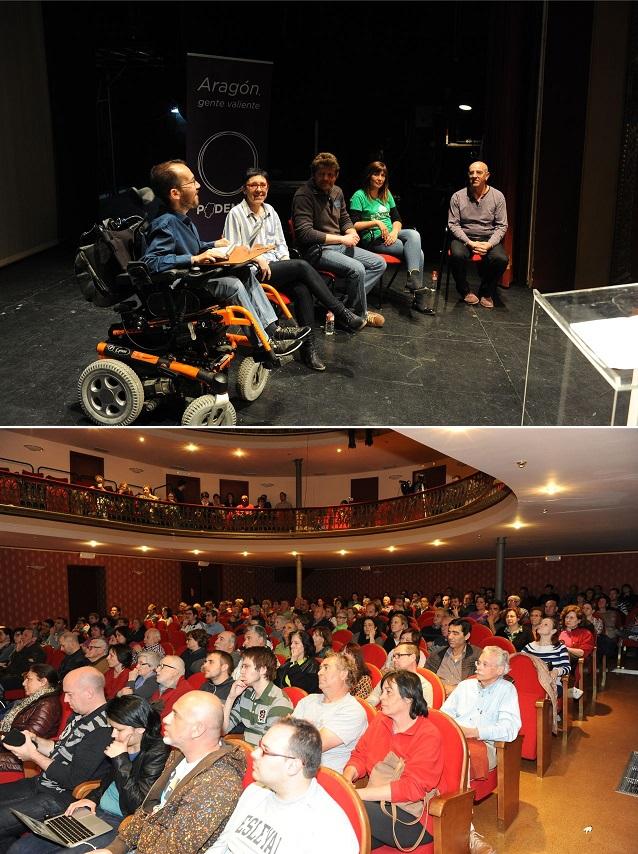 """Podemos Aragón reclama en Alcanyiz """"potenciar la economía de los cuidados en el medio rural"""""""