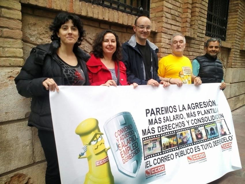 Ganar Teruel muestra su apoyo a las reivindicaciones de la plantilla de Correos
