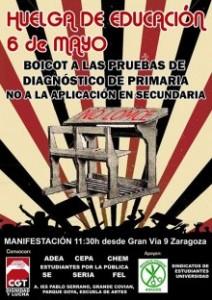 Cartel de la convocatoria de huelga del 6 de mayo.
