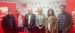 Luquin con representantes del SUAP.