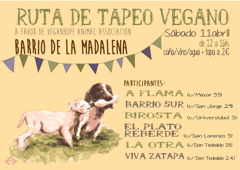 Ruta de Tapeo Vegana en la Madalena a favor de Vegan Hope