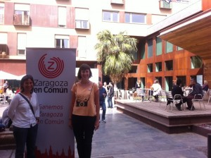 Luisa Broto y Teresa Artigas durante su comparecencia.