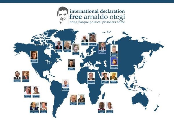 Referentes internacionales impulsan la campaña 'Free Otegi & Free Them All'