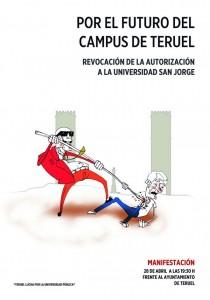 Cartel de la convocatoria de este martes en Teruel.
