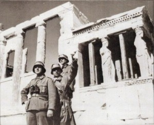 El ejército nazi en Atenas.