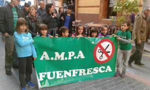 Protesta en Teruel. Foto: @anicamellamo