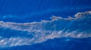 Regueros de fuel del pesquero ruso hacia Canarias. Foto: Greenpeace