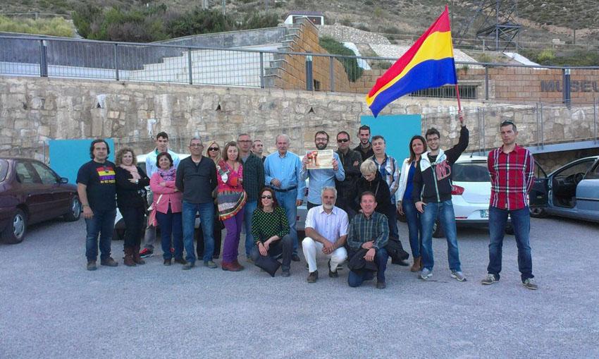 Descendientes de republicanos de Caspe celebran el Día de la República en el Museo de la Mina de Mequinensa