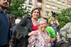 Ada Colau, ayer en Madrid. Foto: Álvaro Minguito (Diagonal)