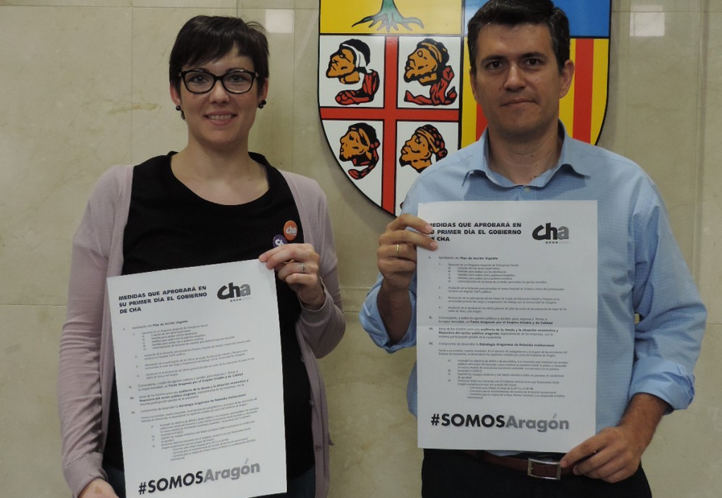 CHA presenta en Uesca las medidas prioritarias para un primer día de Gobierno