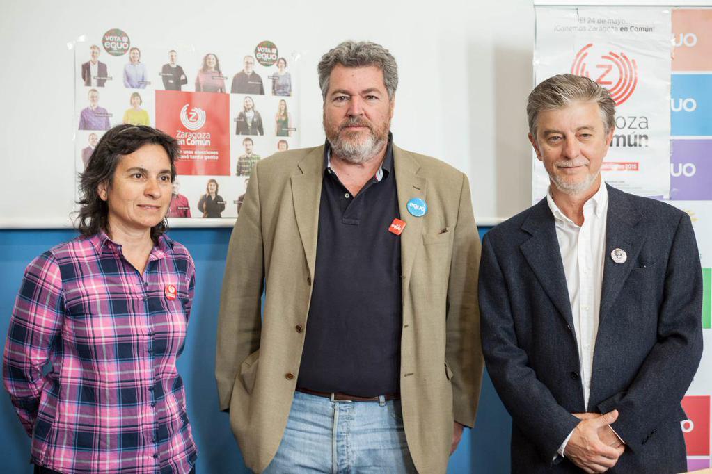 Confluencia y empleo verde centran la intervención de Juan López de Uralde en su visita a Zaragoza