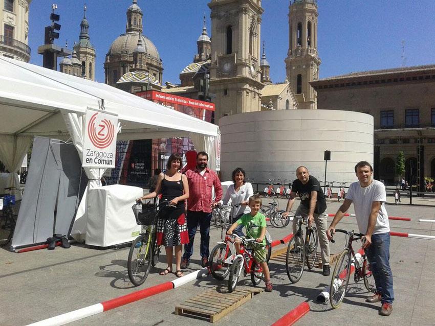 Zaragoza en Común: «Haremos de Zaragoza la ciudad ciclista referente del sur de Europa»