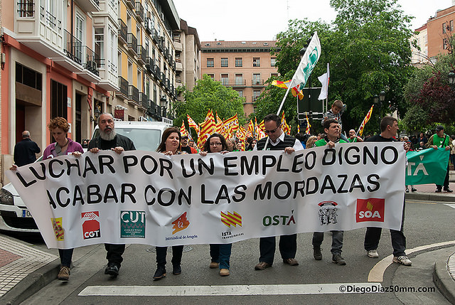 Miles de personas reivindican la lucha de la clase obrera en Aragón
