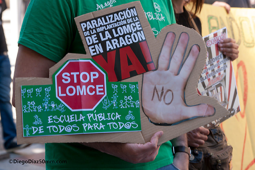 Podemos, IU, CHA y PSOE comienzan este lunes las reuniones de trabajo para paralizar la LOMCE