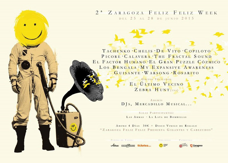 'Zaragoza Feliz Feliz presenta: Gigantes & Cabezudos', una recopilación musical para apoyar la escena de Zaragoza