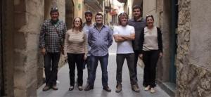 Candidatos a la alcaldía de IU-Cambiar Fraga.
