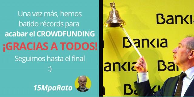 """15MpaRato seguirá en la querella """"contra Rato y sus cómplices"""""""