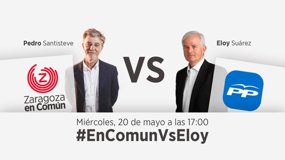 Habrá debate entre Pedro Santisteve y Eloy Suárez