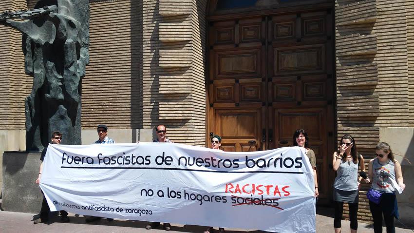 La Plataforma Antifascista expone a los partidos sus reivindicaciones contra el auge del fascismo en Zaragoza