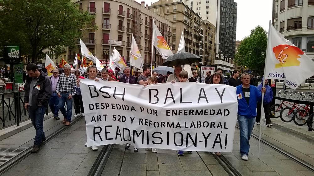 Este jueves se celebra en Zaragoza el juicio de una trabajadora despedida por el grupo BSH Balay