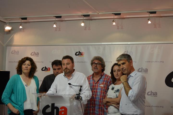 CHA invita a PSOE, ZeC y Podemos a mantener sendas reuniones que «avancen en la gobernabilidad»