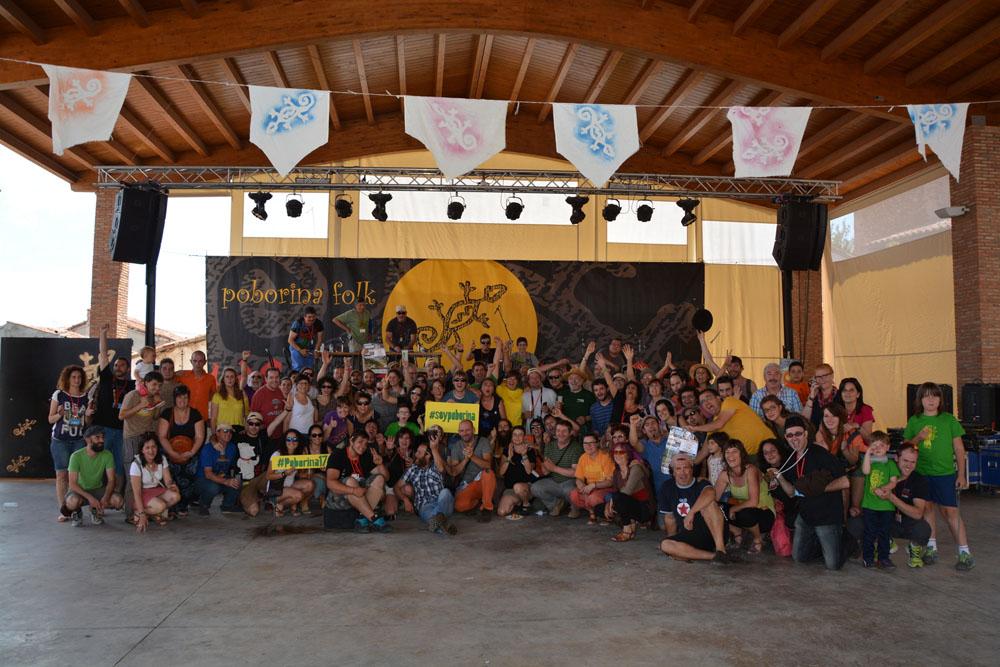 El XVII Festival Poborina Folk supera a otras ediciones en público y calidad