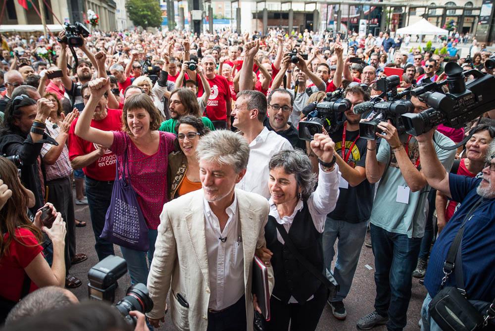 Zaragoza en Común gobernará en el ayuntamiento para representar el poder del pueblo