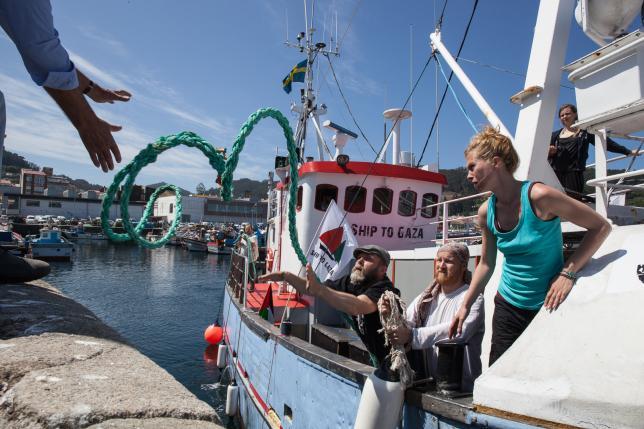 La Flotilla de la Libertad parte de Bueu con destino Lisboa y rumbo a Gaza