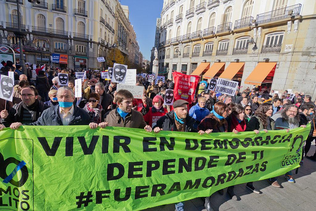 Primer paso en el Congreso español para modificar la ley mordaza