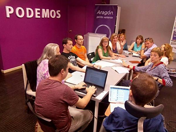 """Podemos Aragón inicia un """"pacto ciudadano"""" con agentes de la sociedad civil y movimientos sociales"""