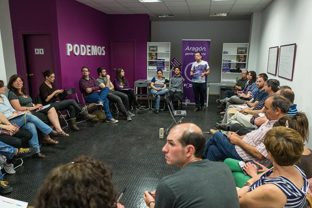 El Círculo Podemos Zaragoza se reúne para establecer prioridades en el Gobierno de Aragón