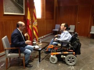 """Echenique trasladará a Lambán la necesidad de presionar a Rajoy para """"revertir el régimen de austeridad"""""""