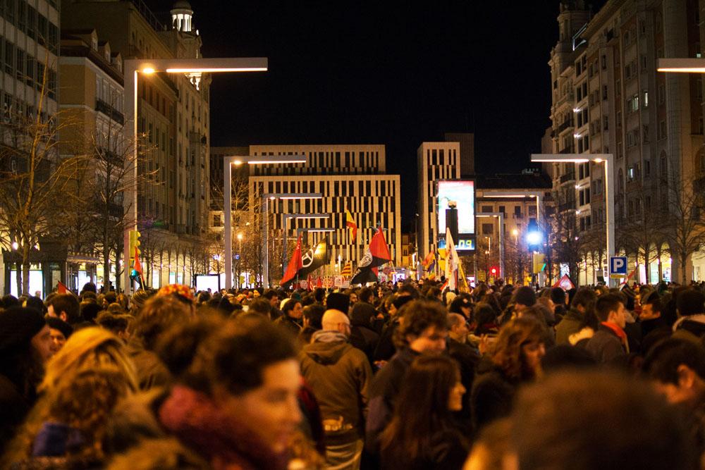 Absueltas las cinco personas detenidas tras la manifestación en Zaragoza de apoyo a Gamonal
