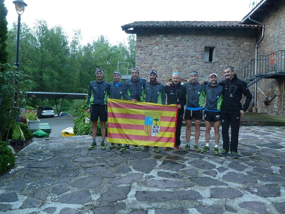 Buena actuación de la selección aragonesa de carreras de montaña en la Skyrace Vallibierna