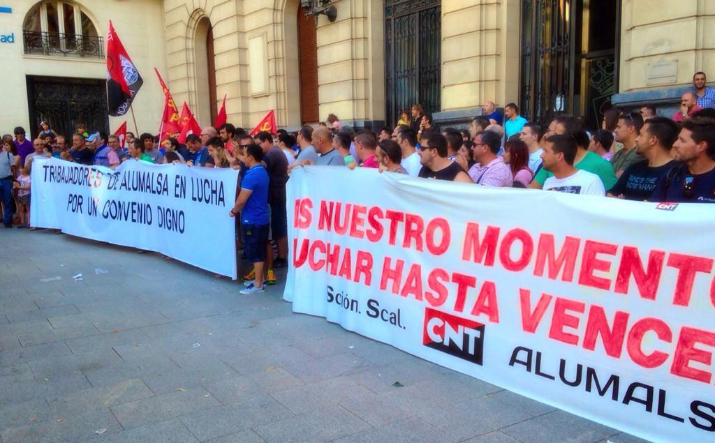 El TSJA confirma la condena a Alumalsa por represión sindical contra CNT