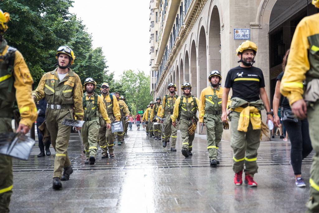 Las BRIF marchan por Zaragoza para reivindicar unas condiciones de trabajo dignas