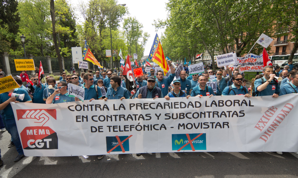 Huelga de subcontratas de Movistar