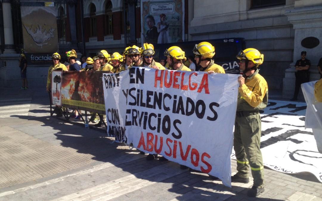 Sin acuerdo con Tragsa, las BRIF no se rinden y continúan la huelga