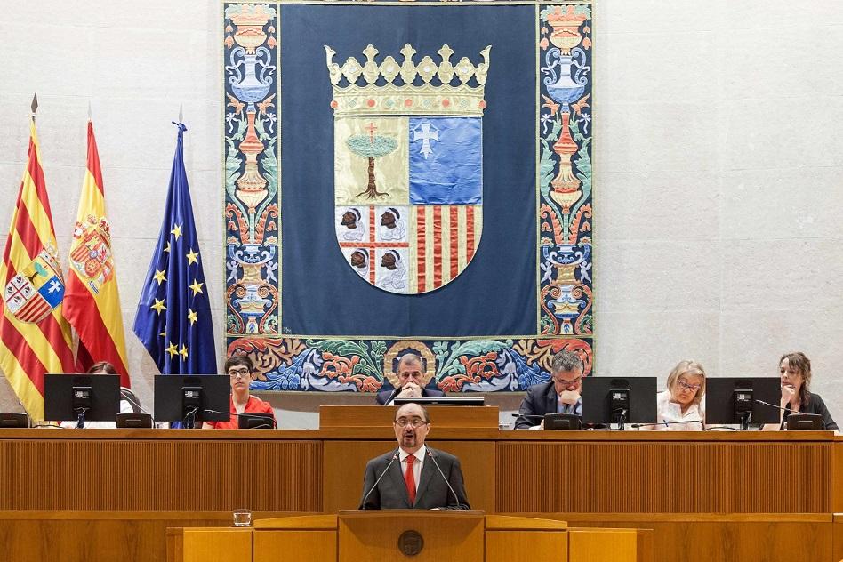 """Lambán apuesta por """"una reforma federal del estado español"""" que sitúe a Aragón """"en igualdad de condiciones"""""""