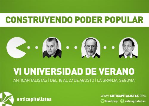 La sexta edición de la Universidad de Verano Anticapitalista se volverá a celebrar en La Granja (Segovia)