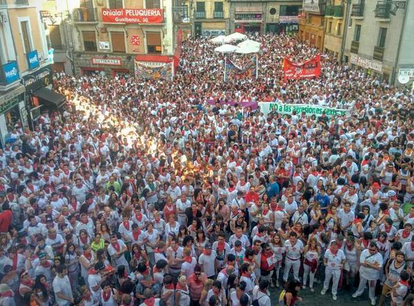 Masiva respuesta contra las agresiones sexistas en Iruñea