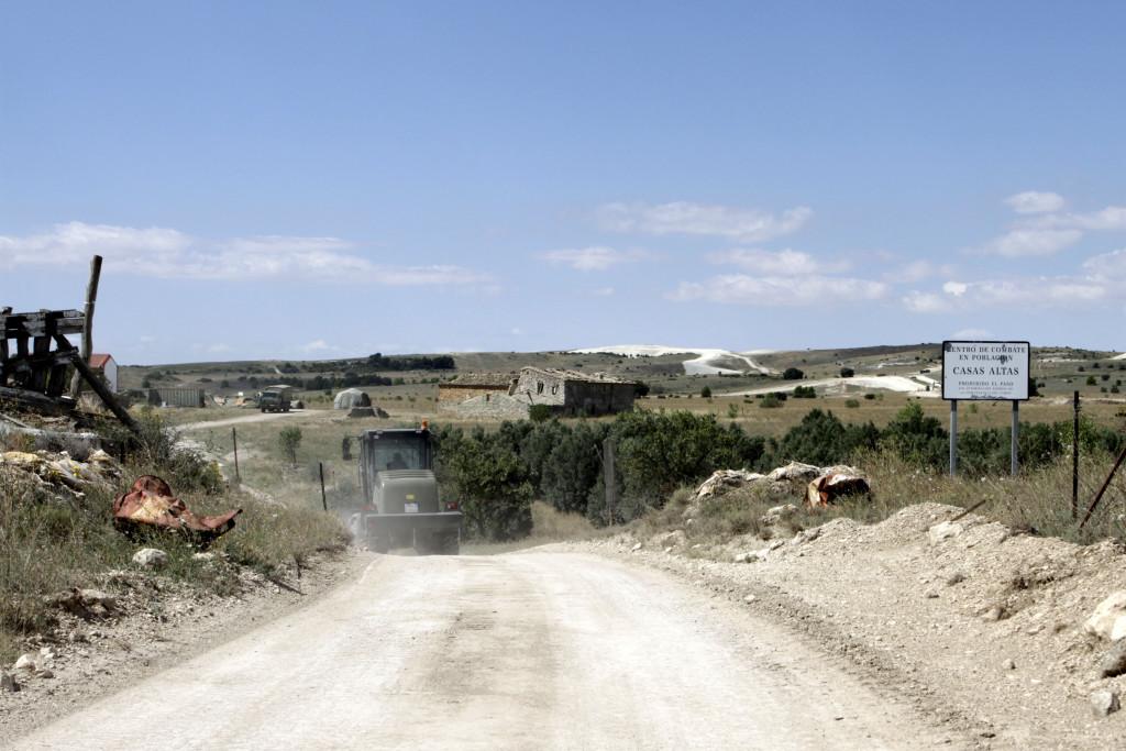 Chunta Aragonesista propone exigir al Gobierno del Estado el desmantelamiento del Campo de Maniobras de San Gregorio