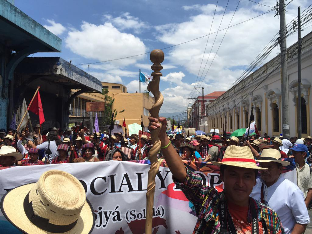 Histórico paro en Guatemala para pedir la renuncia del presidente Otto Pérez Molina