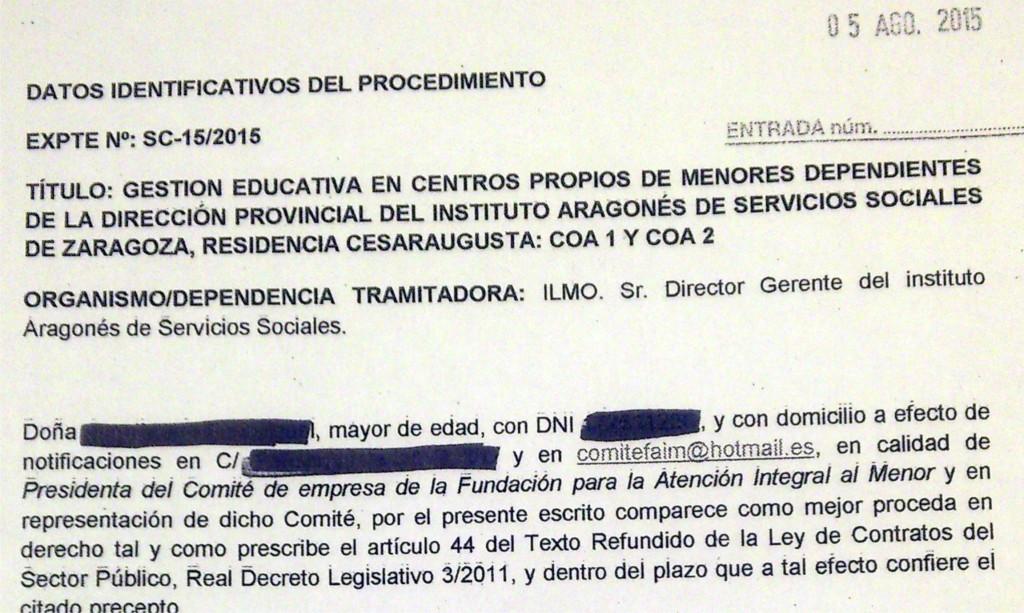 Educadores en Lucha pide anular la adjudicación del COA